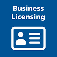 Business licensing tile image